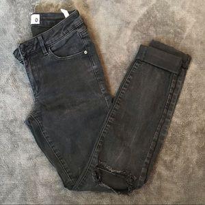 Garage black denim jeans